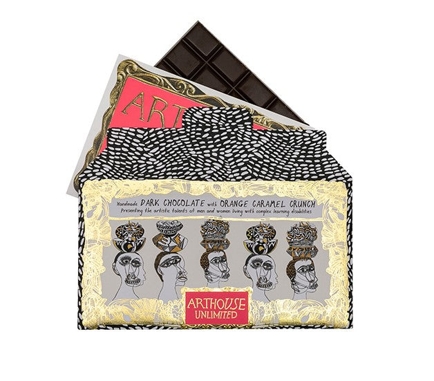 'ARTHOUSE Unlimited' Handmade Dark Chocolate with Orange Caramel Crunch