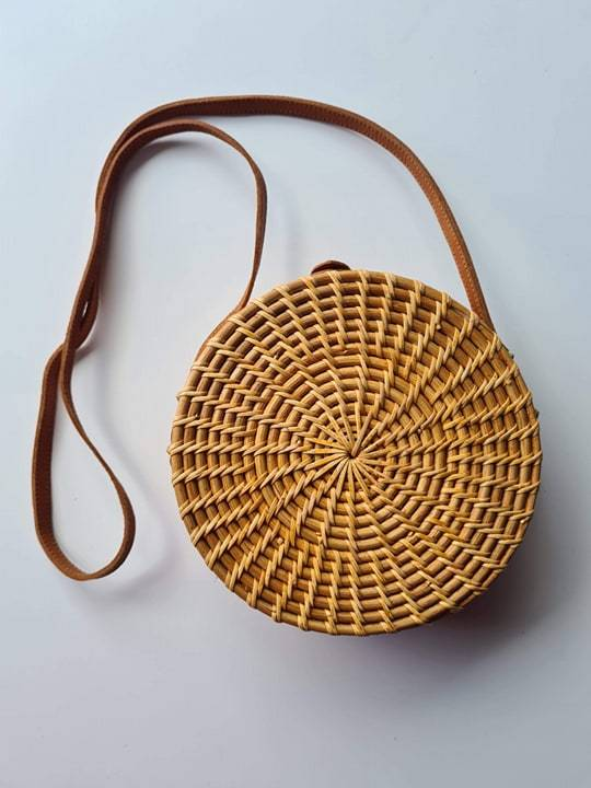Atta Bag Round, Natural Colour with Batik Lining - SAGE Living & Homewares