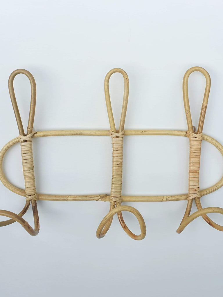 Rattan Rack/Hooks - SAGE Living & Homewares