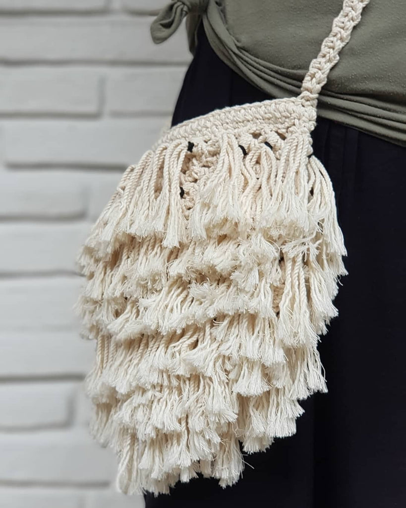 Crochet Shaggy Bag - SAGE Living & Homewares