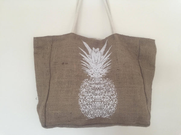 Heshen Bag, Lined with Pineapple Print Bags SAGE Living & Homewares