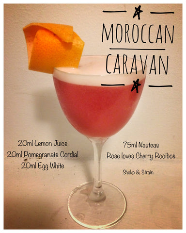 Moroccan Caravan cocktail with Nauteas Cherry Loves Rose tea by Fredi Viaud