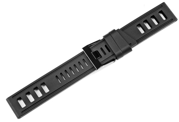 Monochrome Watches Shop | Isofrane Rubber Watch Strap - Black