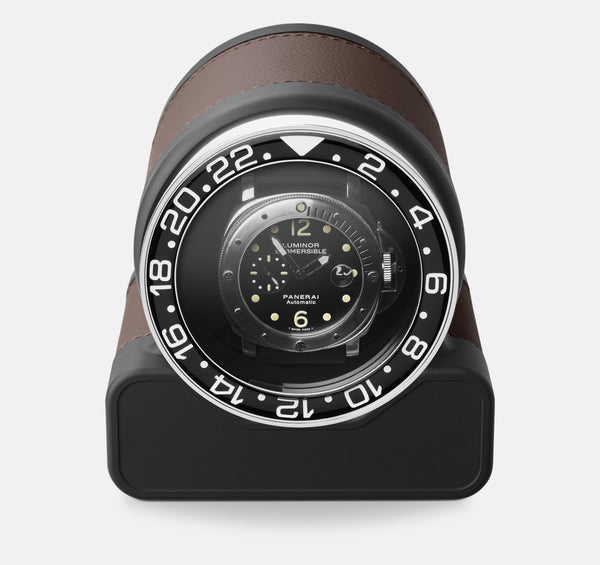 Monochrome Watches Shop | Scatola del Tempo - Rotor One Sport - Watch Winder - Chestnut