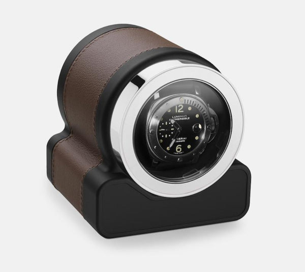 Monochrome Watches Shop | Scatola del Tempo - Rotor One - Watch Winder - Chestnut