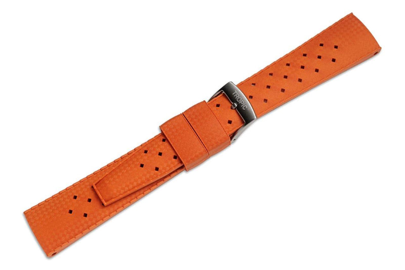 Tropic - Rubber Watch Strap - Orange