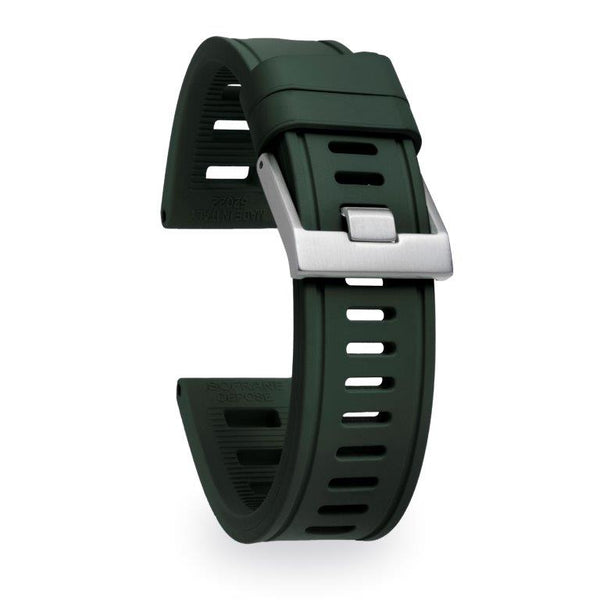 Monochrome Watches Shop | Isofrane Rubber Watch Strap - Green