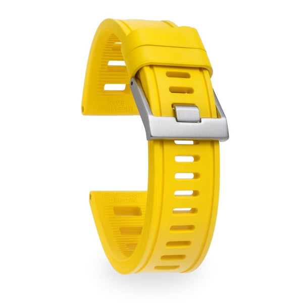 Monochrome Watches Shop | Isofrane Rubber Watch Strap - Yellow