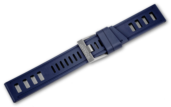 Monochrome Watches Shop | Isofrane Rubber Watch Strap - Blue