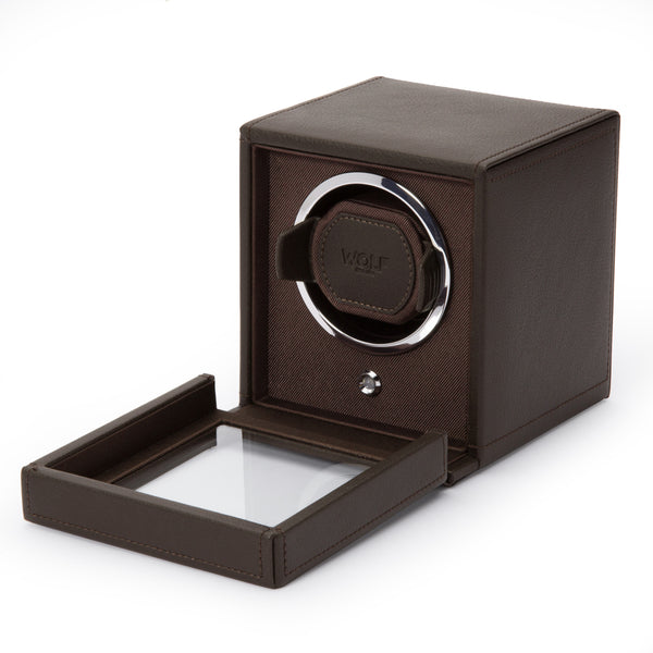 Monochrome Watches Shop | Wolf Cub Single Watch Winder Brown
