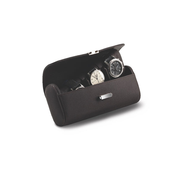 Monochrome Watches Shop | Scatola del Tempo - Pochette - Watch Pouch - Chocolate