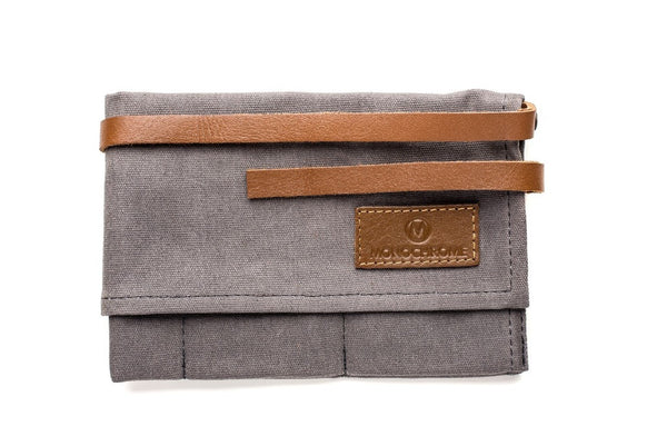 Grey - Canvas Watch Roll