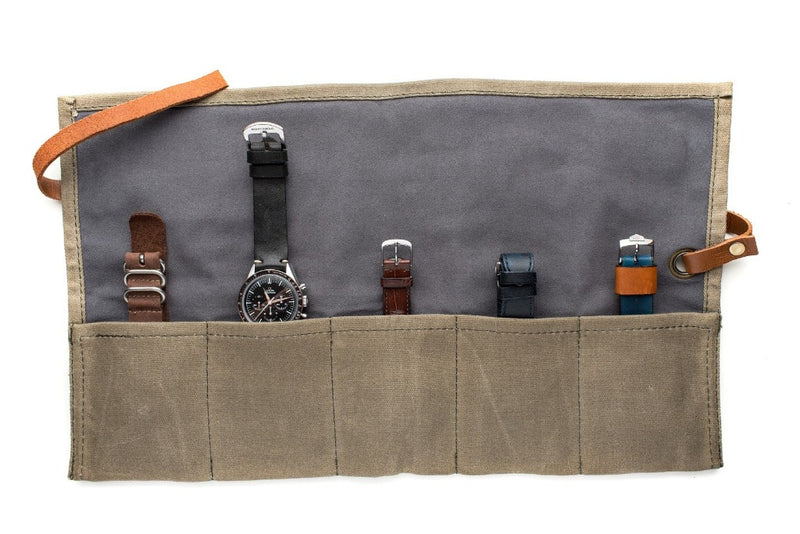 Monochrome Watches Shop | Canvas Watch Roll - Green
