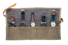 Green - Canvas Watch Roll