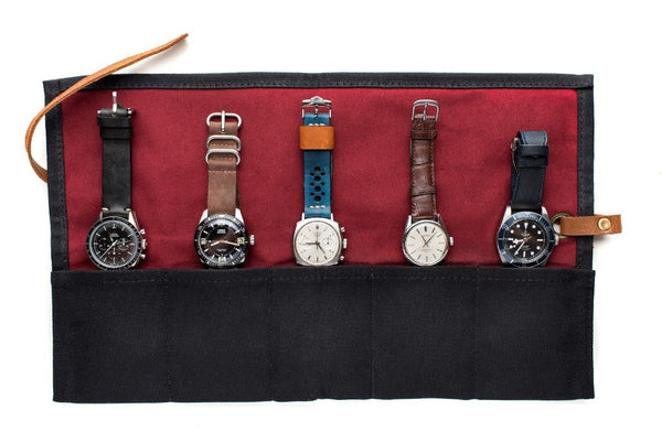Monochrome Watches Shop | Canvas Watch Roll - Black