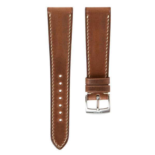 Monochrome Watches Shop | Delugs Horween Chromexcel Watch Strap - Cognac