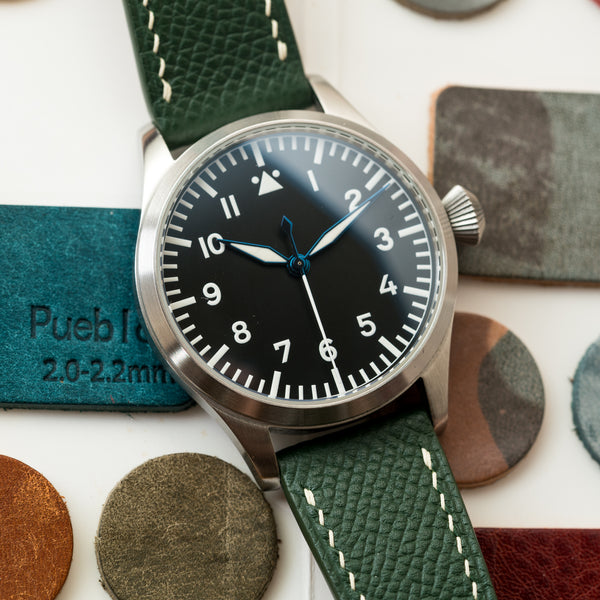 Monochrome Watches Shop | Delugs Epsom Calfskin Watch Strap - Green