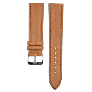 Embossed leather watch strap
