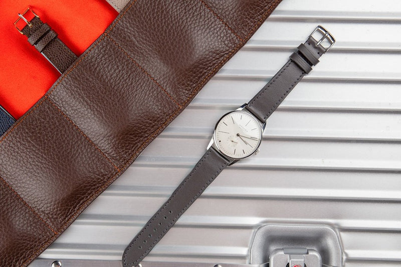 Monochrome Watches Shop | Smooth Calfskin Watch Strap - Dark Grey