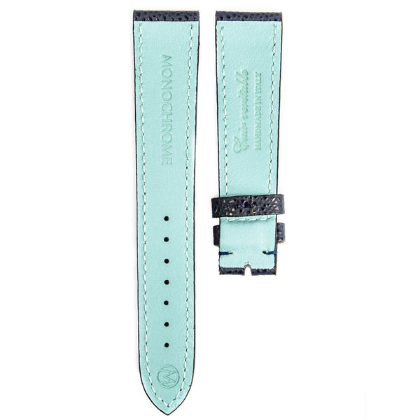 Monochrome Watches Shop | Grained Calfskin Watch Strap - Blue