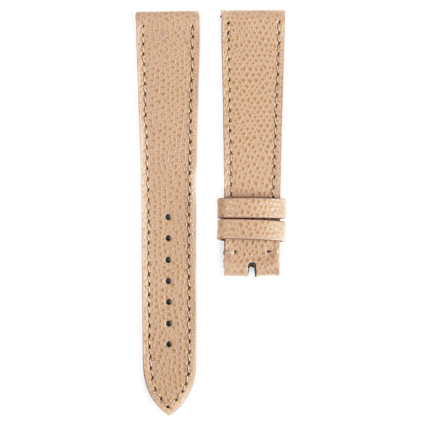 Monochrome Watches Shop | Grained Calfskin Watch Strap - Taupe