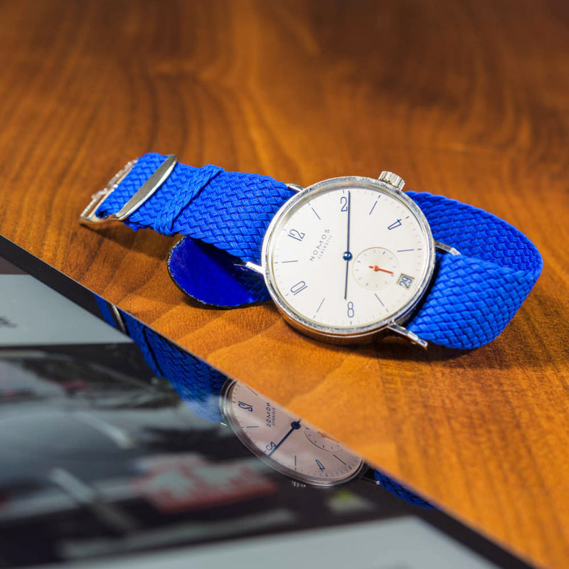 Monochrome Watches Shop | Perlon Strap - Aqua Blue