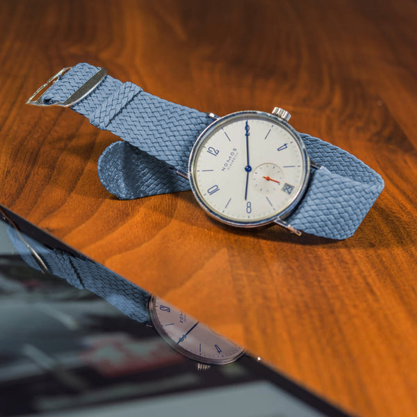 Monochrome Watches Shop | Perlon Strap - Petrol Blue