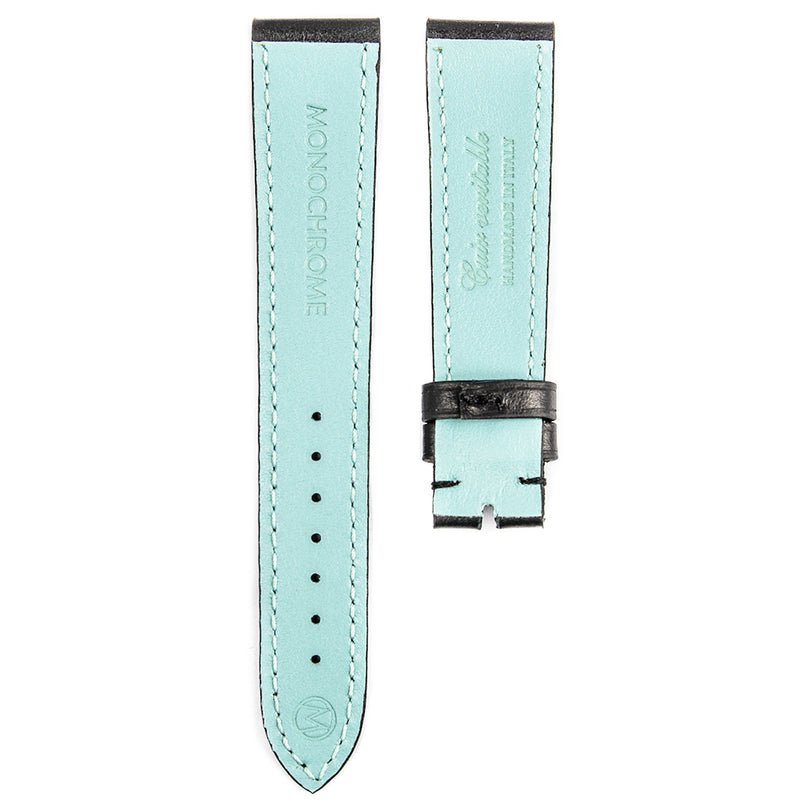 Monochrome Watches Shop | Smooth Calfskin Watch Strap - Black