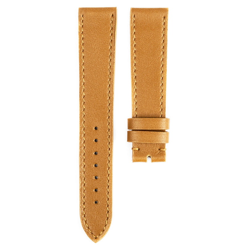 Monochrome Watches Shop | Smooth Calfskin Watch Strap - Fudge