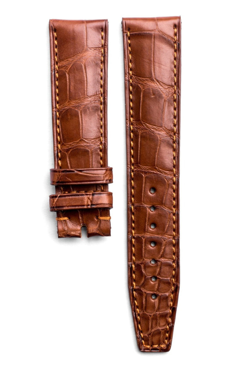 Monochrome Watches Shop | Alligator Watch Strap - Honey