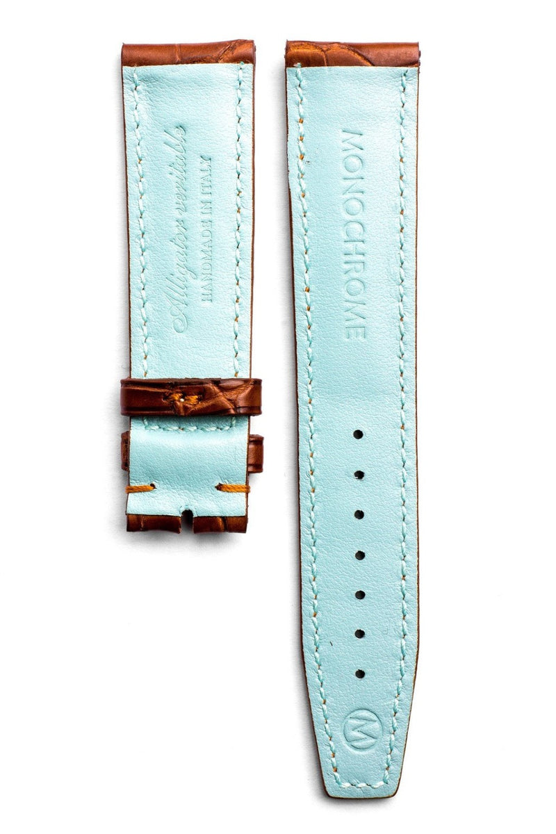 Monochrome Straps – Honey Alligator Leather Strap