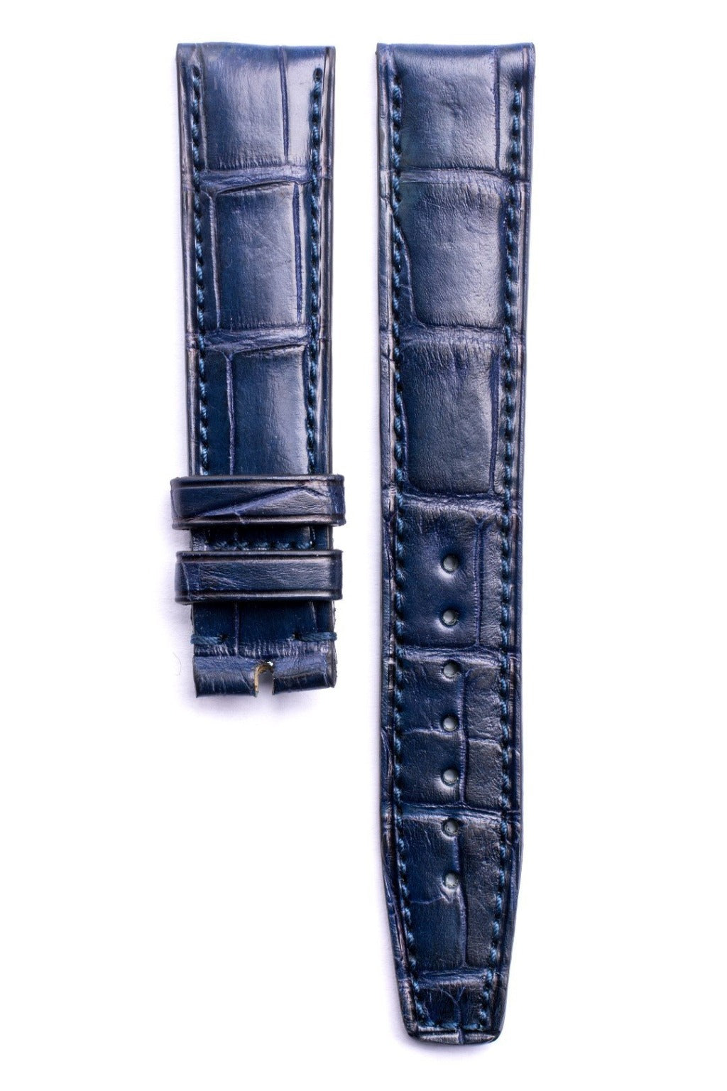 Monochrome Straps – Blue Alligator Leather Strap