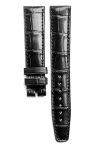 Monochrome Straps – Black Alligator Leather Strap