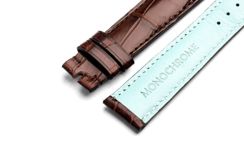Monochrome Straps – Brown Alligator Leather Strap
