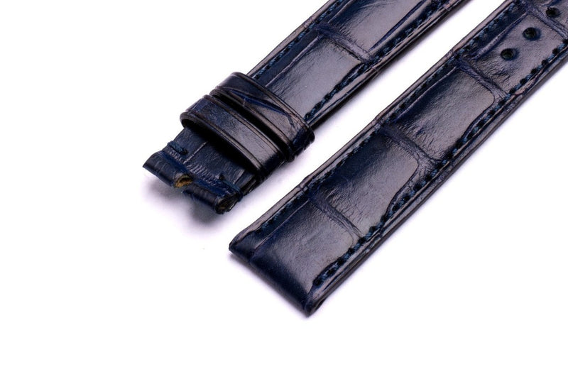 Monochrome Watches Shop | Alligator Watch Strap - Blue