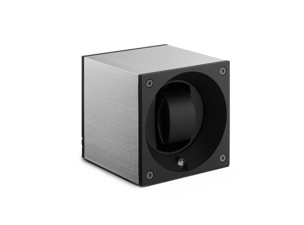 Monochrome Watches Shop | SwissKubik - Masterbox Aluminium - Single Watch Winder - Brushed Aluminium
