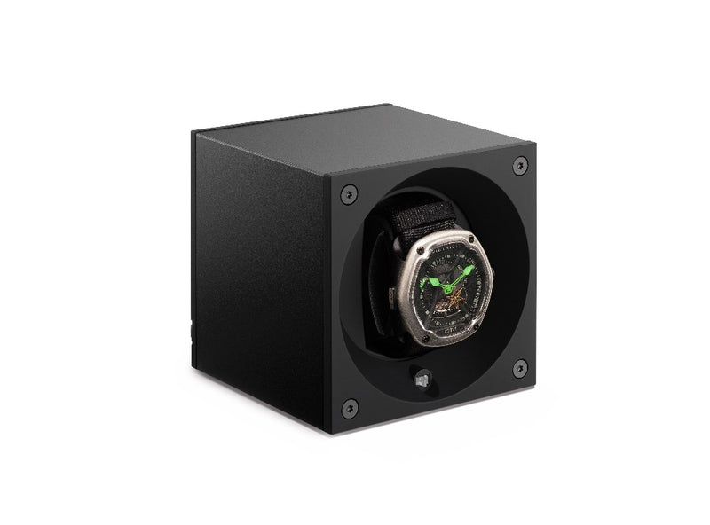Monochrome Watches Shop | SwissKubik - Masterbox Aluminium - Single Watch Winder - Black