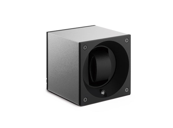 Monochrome Watches Shop | SwissKubik - Masterbox Aluminium - Single Watch Winder - Silver