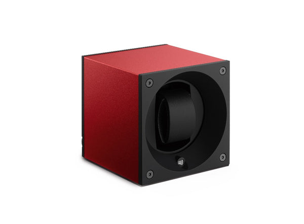 Monochrome Watches Shop | SwissKubik - Masterbox Aluminium - Single Watch Winder - Red