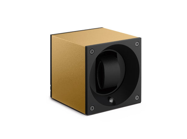 Monochrome Watches Shop | SwissKubik - Masterbox Aluminium - Single Watch Winder - Gold