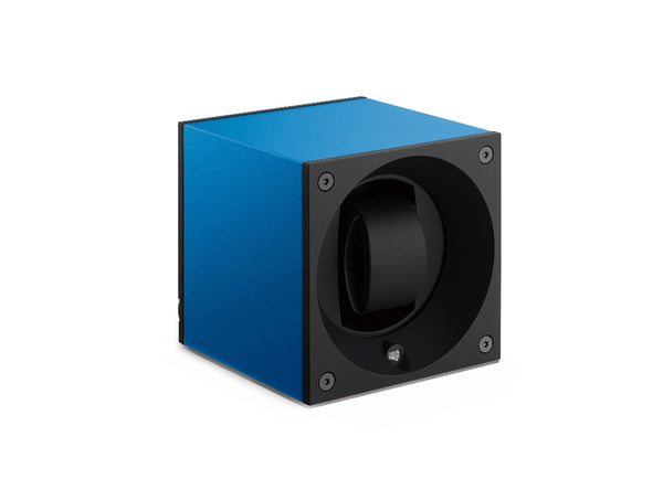 Monochrome Watches Shop | SwissKubik - Masterbox Aluminium - Single Watch Winder - Sapphire Blue