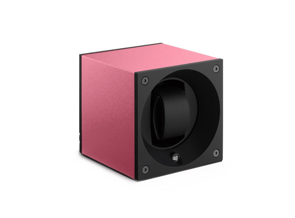 Monochrome Watches Shop | SwissKubik - Masterbox Aluminium - Single Watch Winder - Pink