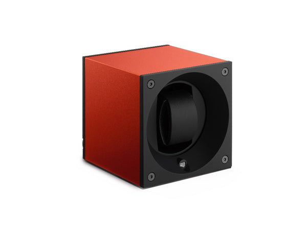 Monochrome Watches Shop | SwissKubik - Masterbox Aluminium - Single Watch Winder - Orange