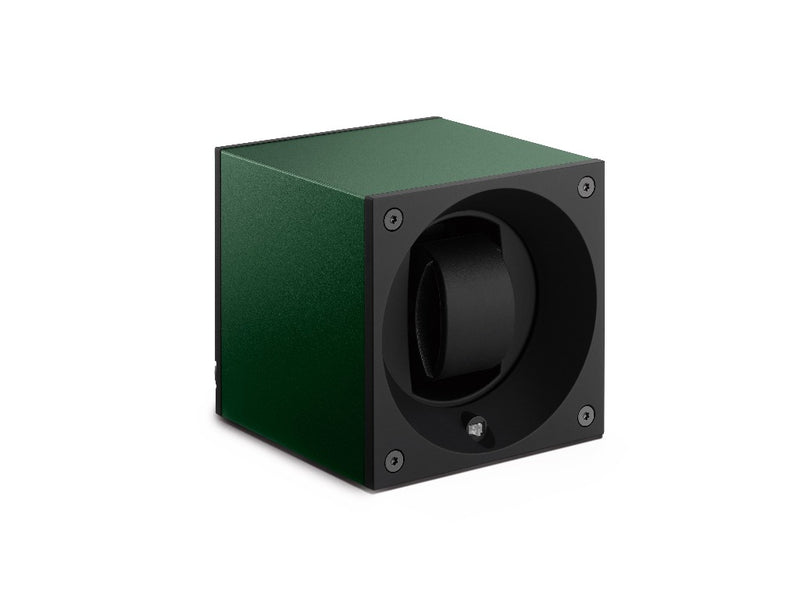 Monochrome Watches Shop | SwissKubik - Masterbox Aluminium - Single Watch Winder - Dark Green