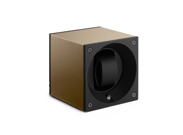 Monochrome Watches Shop | SwissKubik - Masterbox Aluminium - Single Watch Winder - Taupe
