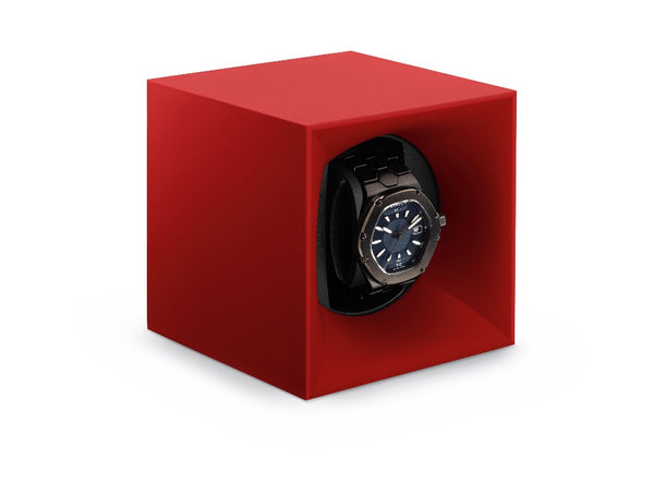 Monochrome Watches Shop | SwissKubik - Startbox - Single Watch Winder - Red
