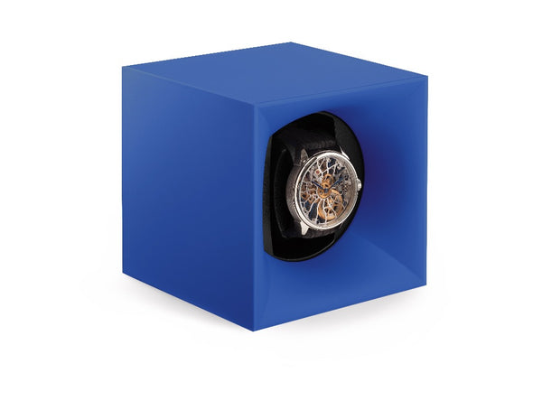 Monochrome Watches Shop | SwissKubik - Startbox - Single Watch Winder - Blue