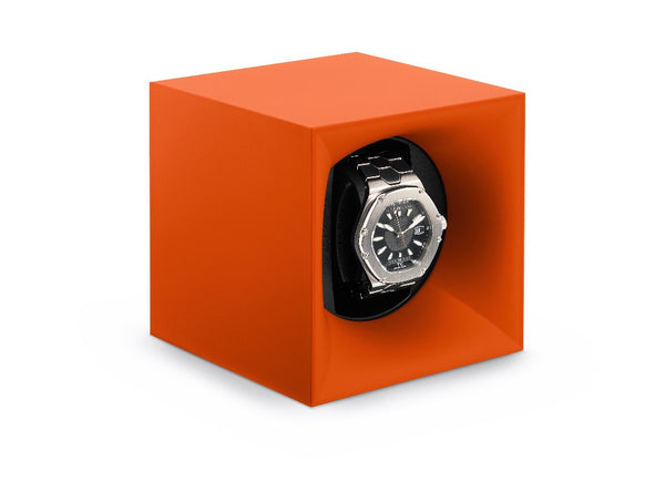 Monochrome Watches Shop | SwissKubik - Startbox - Single Watch Winder - Orange