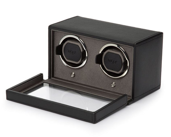 Monochrome Watches Shop | Wolf Cub Double Watch Winder Black