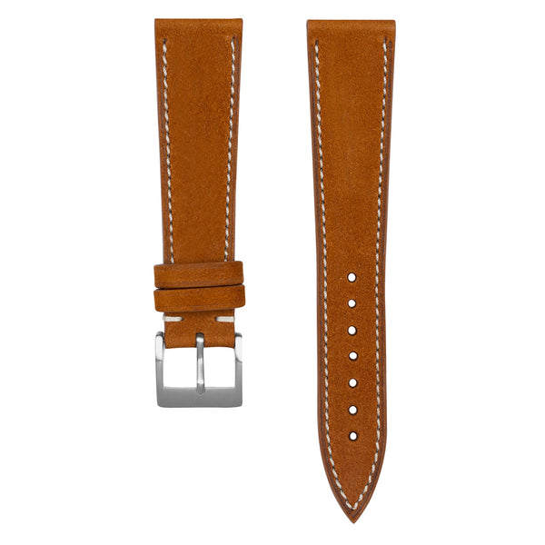 Monochrome Watches Shop | Nubuck Watch Strap - Cognac